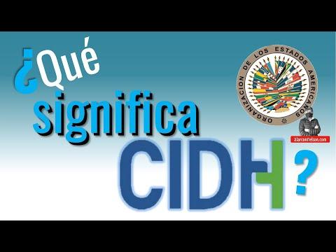 ¿Qué Significa CIDH?