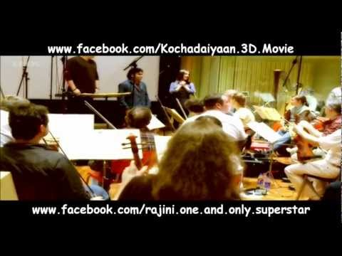 A.R. Rahman & German Orchestra @ Kochadaiyaan 3D BGM Recording Studio Travel Video