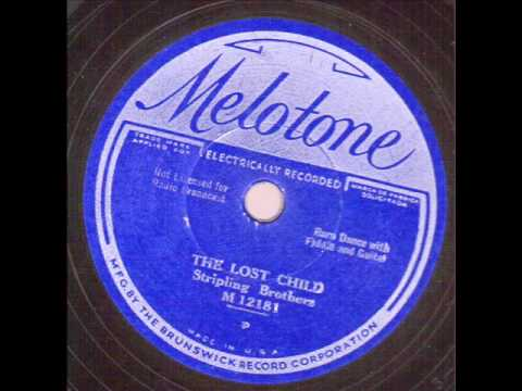 Stripling Brothers   The Lost Child   MELOTONE  12181