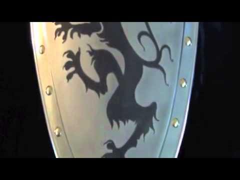 Rampant Lion Shield by Marto of Toledo Spain SFMA970S
