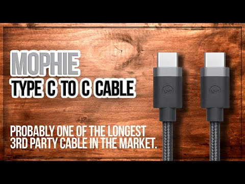 Mophie cable 2m USB Type C to C (Sunday Unboxing)