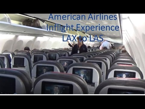 American Airlines Domestic Economy Inflight Experience LAX to LAS