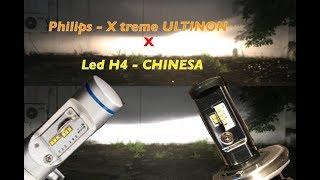 PHILIPS H4 x-treme ultinon X LED H4 chinesa   MAIS BONUS BARRA LED Video