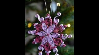 Christmas Special Quilled Snowflake - Quilling Craft