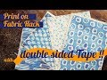 How to Print on Fabric HACK with Inkjet Printer and NO Freezer Paper !