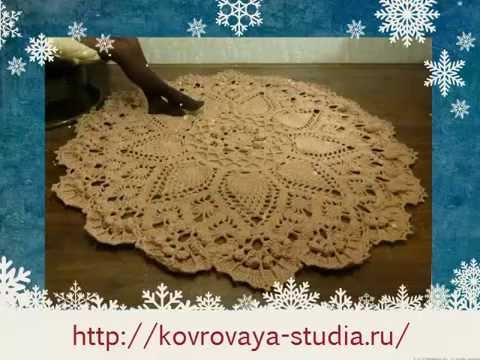 Вязание ковров крючком мастер
