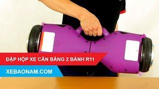 [Xebaonam.com] Đập hộp xe điện cân bằng 2 bánh R11 có tay xách tiện dụng