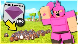 How To Get UNLIMITED PINK DIAMONDS & CRAFTING ALL PINK DIAMOND STUFF | Roblox: Booga Booga