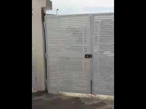 Porte m tallique moderne en tunisie youtube for Porte fer forge exterieur