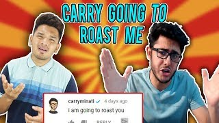 CARRYMINATI GOING TO ROAST ME || Q&A with yoshabji episode 2
