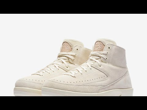 47868ddbe0b Air Jordan Retro 2 DeCon Sail Suede Upper(Review)Rated R Content Included