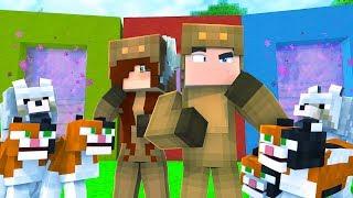 Minecraft Daycare - SECRET PORTALS! W/ MOOSECRAFT (Minecraft Kids Roleplay)