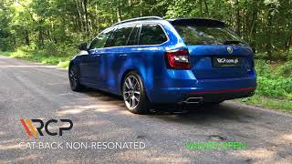 Skoda Octavia RS 2.0 TSI | RCP Exhausts | Cat-Back Exhaust + Valves