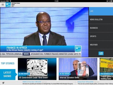 Follow international news with the France 24 app