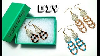 beading tutorial. how to make earrings. beaded earrings
