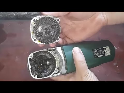 Angle grinder - Repairing and fix - parkside (video 48)