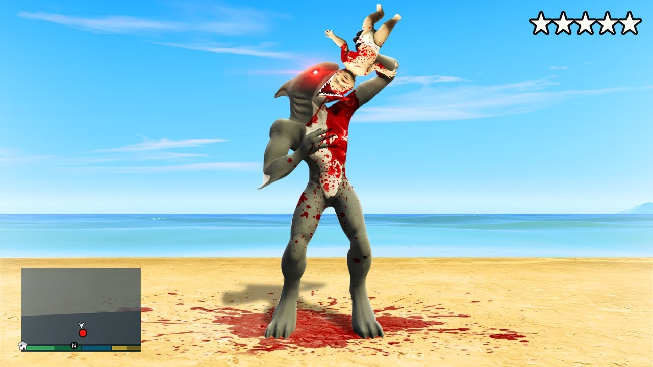 Download Playing as A HUMAN SHARK FUSION! (GTA 5 Mods)
