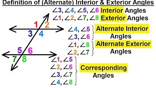 Alternate interior angles alternate exterior angles for Exterior of an angle definition