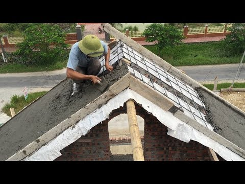 Construction Sloping Roof Concrete Easy - Pour Concrete Step By Step, Buiding & Skills