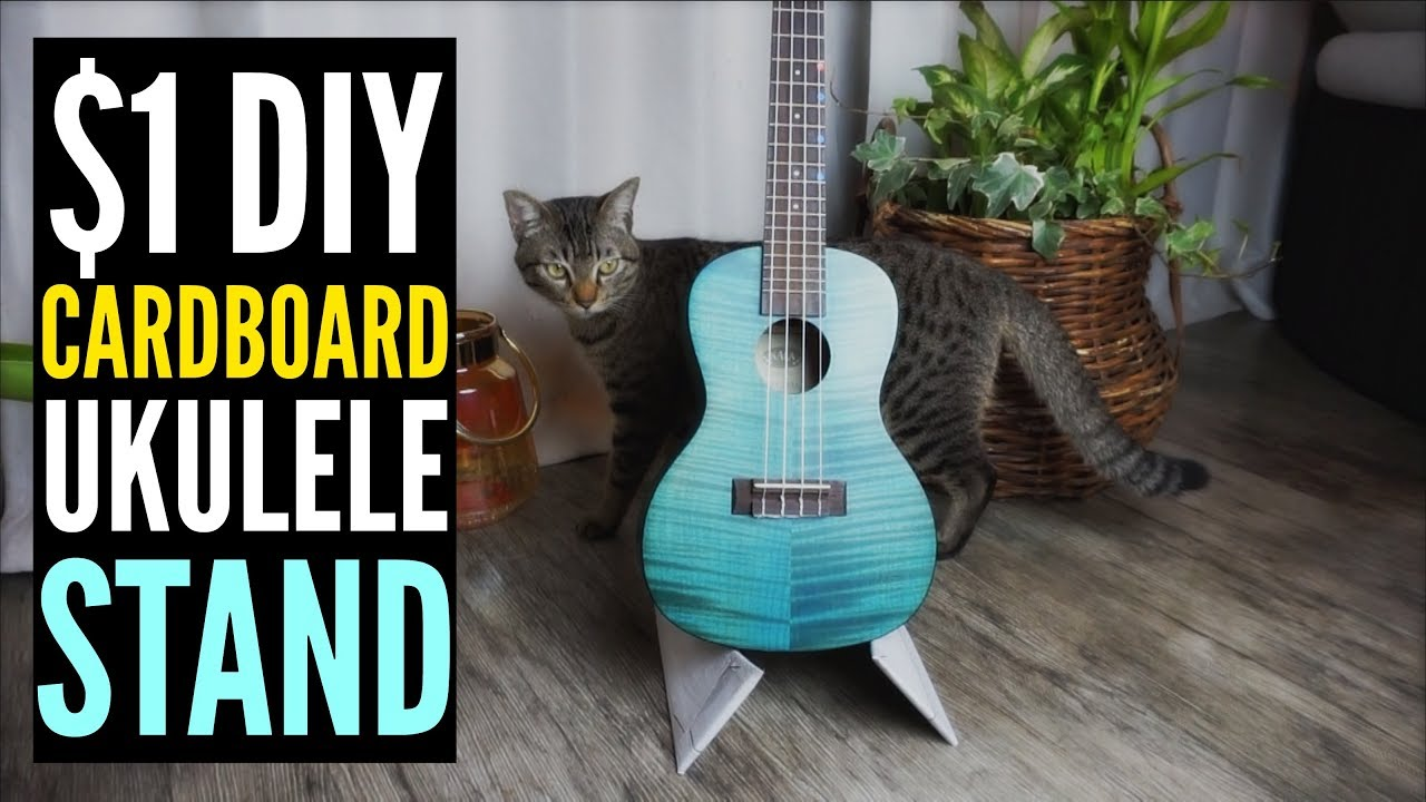 1 diy cardboard ukulele stand do it yourself youtube 1 diy cardboard ukulele stand do it yourself solutioingenieria Image collections
