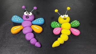 Polymer Clay Butterfly | How to make butterfly with clay for children | clay making toys tutorial