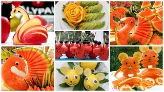 10 Super Fruits Decoration Ideas - Fruits Plate Decoration - GENIUS FRUIT HACKS