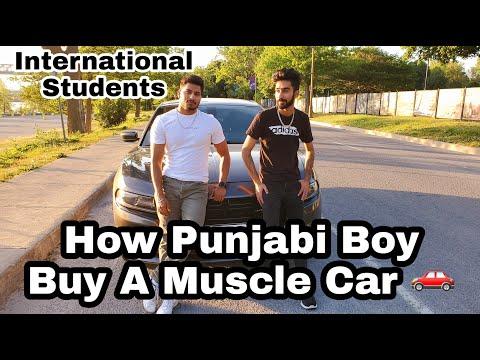 How 🇮🇳 International Students Buy Muscle Car In Canada | Dodge Charger | Montreal Life |