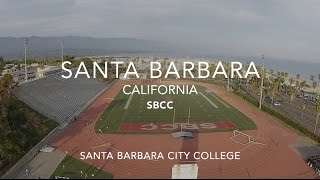 Flying over Santa Barbara City College SBCC - California Bay - Drone