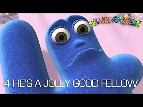 NUMBERJACKS | 4 He's a Jolly Good Fellow | S1E10
