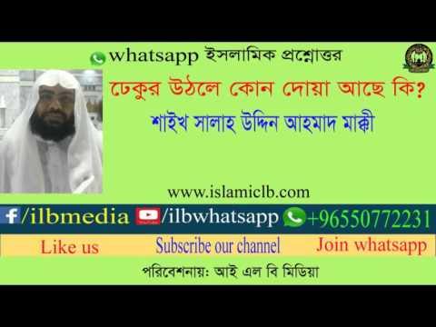 Sheikh Salah Uddin Ahmad Makki  ঢেকুর উঠলে কোন দোয়া আছে কি?