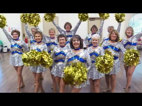 Cheerleading Squad of Senior Citizens Shakes Its Stuff