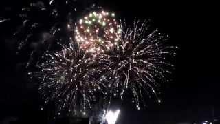 UAE 43rd National Day Fireworks At Dubai Creek.