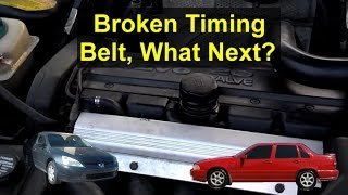 What happened if your vehicle timing belt broke or came loose on an interference engine? - VOTD