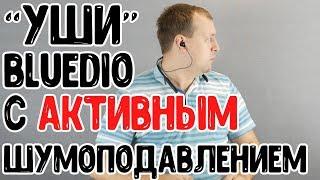компактные наушники с АКТИВНЫМ шумоподавлением - Bluedio TN2