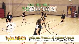 Sparks VBC LV Try-outs 2018-2019