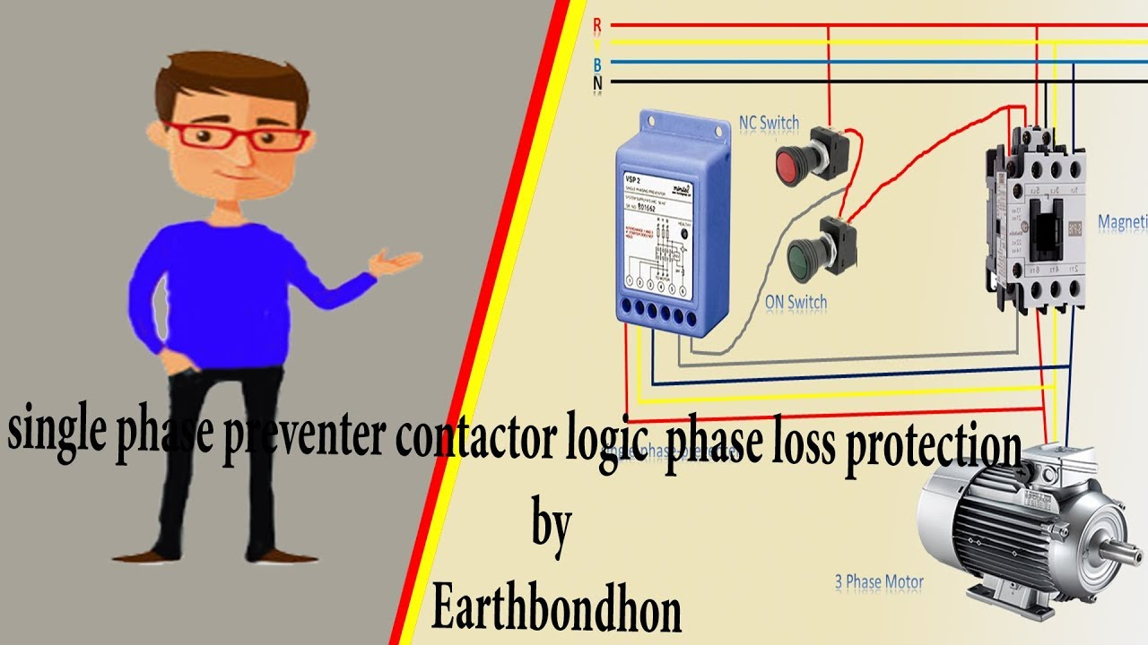 Ac Contactor Wiring Single Phase Preventer Contactor Logic Phase Loss