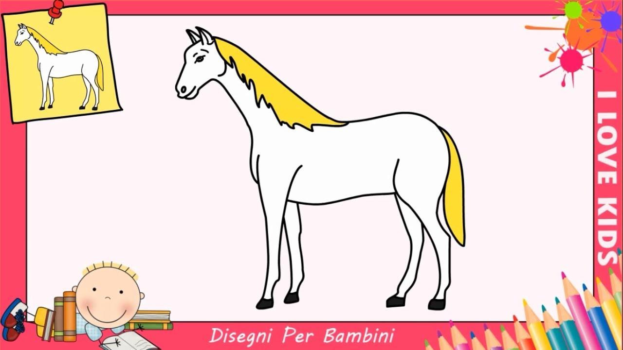 come disegnare un cavallo facile passo per passo per