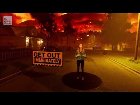 This Weather Channel viz drops you into a raging California wildfire