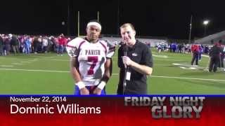 Parish Episcopal RB Dominic Wiliams after TAPPS Div II Quarter Finals Victory