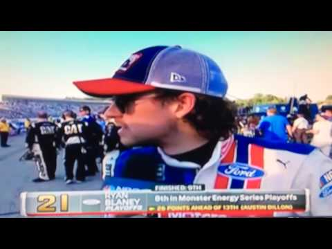 Ryan Blaney New Hampshire Post Race Interview 9/24/17