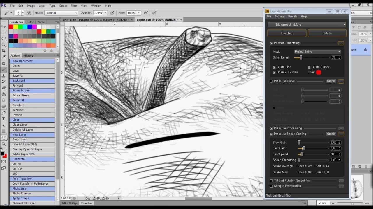 My Setting of Lazy Nezumi Pro. Photoshop CS6, Illustrator CS6 ...