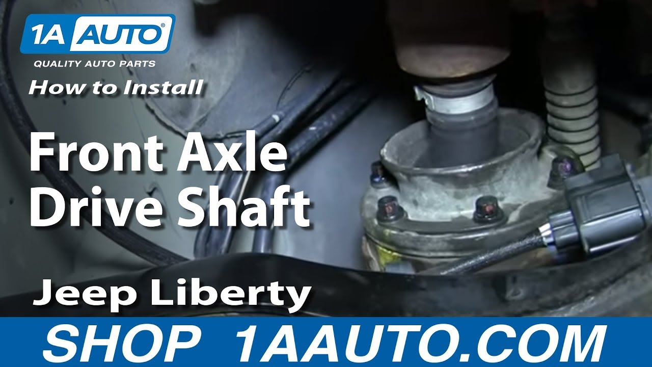 hight resolution of how to install remove front axle drive shaft 2002 07 jeep liberty