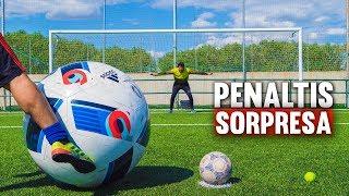 PENALTI SORPRESA *BALÓN GIGANTE* ¡Retos de Fútbol!