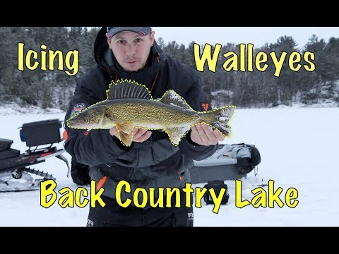 Ice Fishing Walleye - Back Country Lake