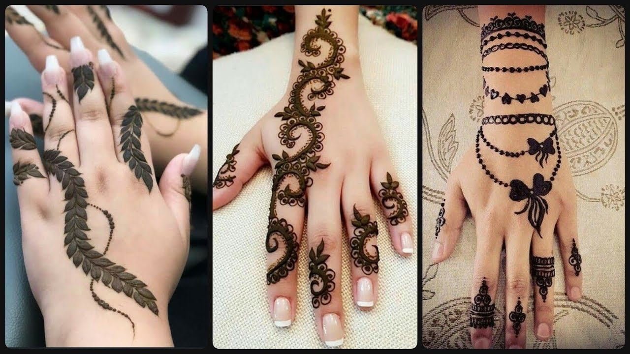 mehndi finger design 2021