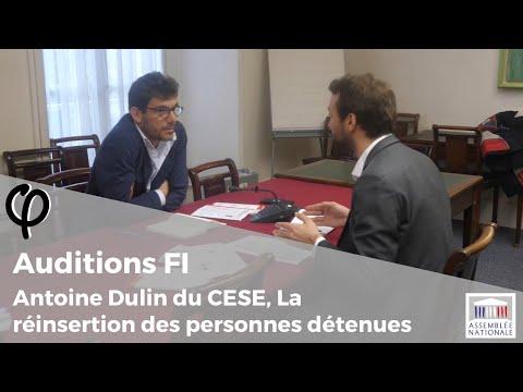 Audition φ - Antoine Dulin, membre du CESE, La réinsertion des personnes détenues - 8 janvier 2020