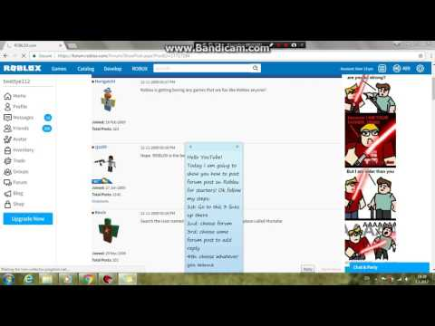 How To Post A Roblox Forum Post For Starters | Roblox