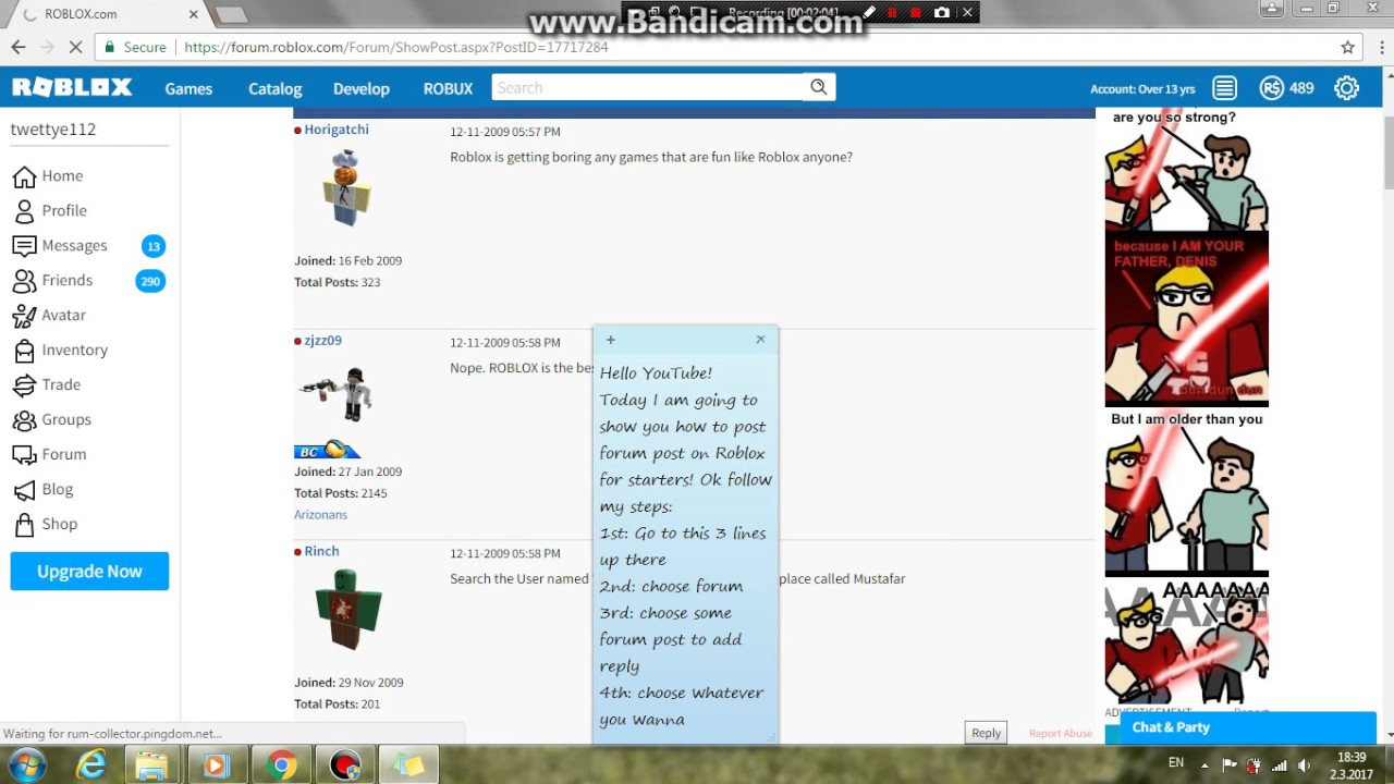 How To Post A Roblox Forum Post For Starters Roblox Youtube - roblox nope youtube