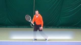Теннис. Уроки. Удар слева двумя руками. 1 часть.