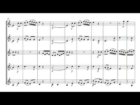 Mozart Horn Quintet 3rd movement - brass quintet